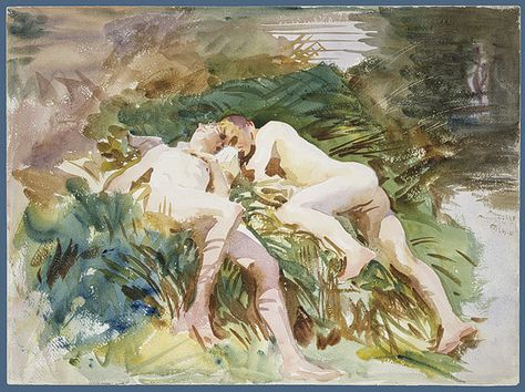 John Singer Sargent Tommies Bathing, 1918 Watercolor and graphite on white wove paper Dimensions: 15 x 20 in. x cm) Metropolitan Museum of Art, NYC