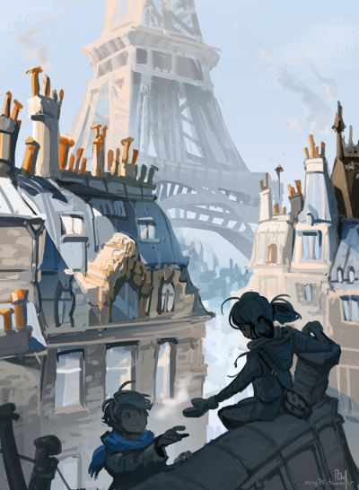 This show has me in a wintery Paris mood! Rooftop superheroes in civvies are my fav. Edit: Someone wrote AMAZING fic for this!!!!