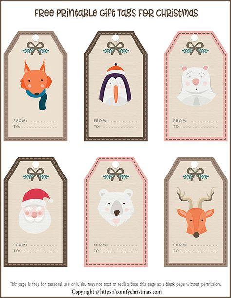 Free Printable Gift Tags for Christmas