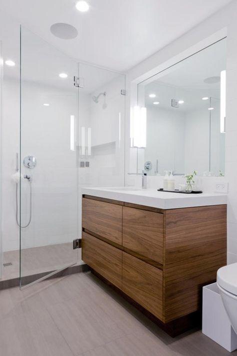 Skandinavische Badezimmer Ideen Mit Beigen Bodenfliesen Mit Weissen