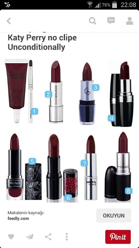 Bordo Ruj Bordeaux Rouge Beauty Makeup Makeup Obsession Ve Love