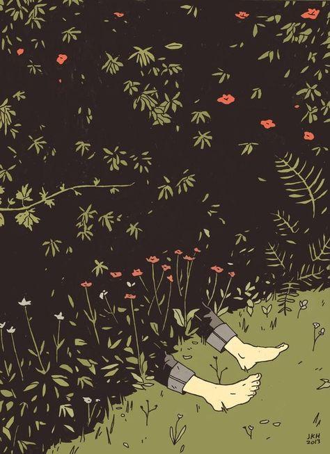 Illustration and Comics by James K. Hindle - Flowering Shrubs and Plants Art Inspo, Kunst Inspo, Art And Illustration, Tag Art, Arte Indie, Jan Van Eyck, Plant Drawing, Flowering Shrubs, Art Graphique