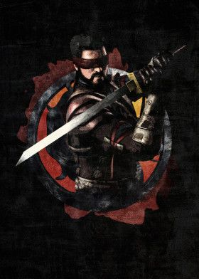 Mortal Kombat Kenshi Gaming Poster Print | metal posters