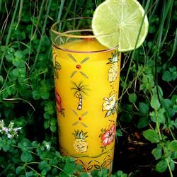 #Mango #Lime #Smoothie #Recipe - This is a delicious and refreshing summer drink. It also makes an excellent cocktail with the addition of rum. Serve in margarita glasses for a festive touch.