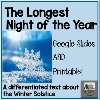 The Longest Night of the Year (Differentiated) Winter Solstice Distance Learning