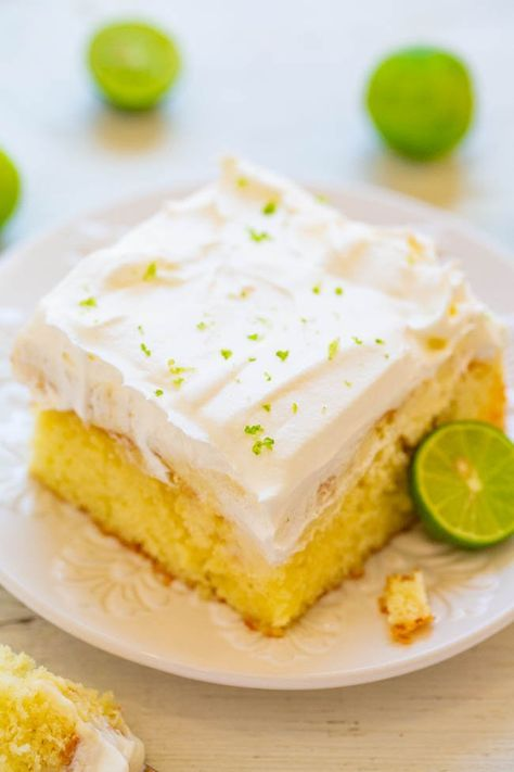 Key lime poke cake - #Baking #Cake #Cooking #Cream, #Delicious #Dessert #Easy #Food #foodgasm #foodporn #Key #Lime #Mix #Photography #Poke #Recipes #Sweet #Tasty #Tooth #Treats #Whipped #White
