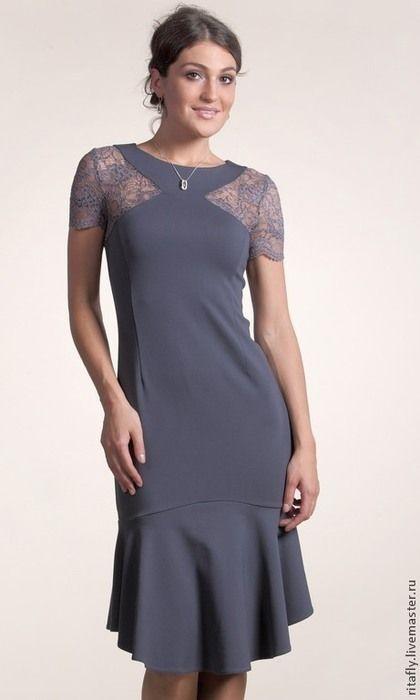 9c93eb659f7 Купить или заказать 245: летнее платье кружевное, платье с воланом, платье  с кружевом в интернет-магазине на Ярмарке Мастеров. Есть готовое н…