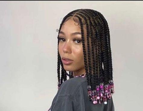 Natural Hair Braids, Braids For Black Hair, Braided Hairstyles Natural Hair, Cornrows Braids For Black Women, Black Girl Braids, Braided Updo, Natural Hair Cornrow Styles, Easy Updos For Medium Hair, Tapered Natural Hair