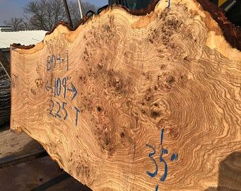 Perfect for Dining Table or Island 300-400 year old LIVE EDGE OAK covered in Burls 106 x 40-48 x 3