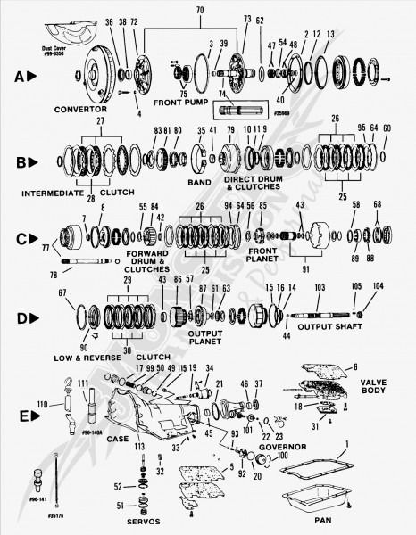 Th350 Transmission Diagram   Th350 transmission, Transmission, Turbo 350  transmissionPinterest