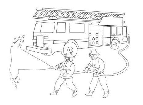 Fire Truck And Firefighter Coloring Page Valentines Day Coloring Page Coloring Pages Truck Coloring Pages