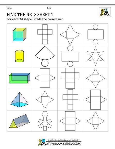 12 nets of 3d shapes amp stepbystep how to calculate - 474×612