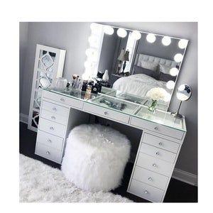 Hollywood Makeup Vanity Mirror With Lights Impressions Vanity Etsy Bedroom Decor Room Ideas Bedroom Bedroom Design