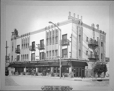 Art Deco Architecture Drawing