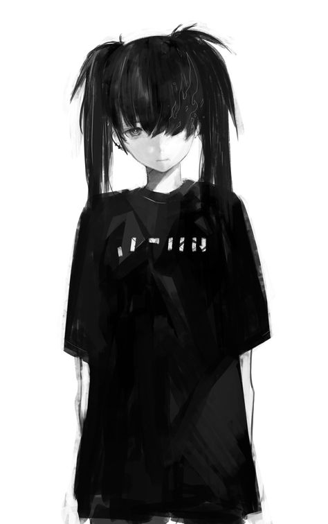 New post on adorable-anime-girls Gothic Anime, Dark Anime, Black Rock, Manga Girl, Anime People, Art Girl, Anime Drawings, Aesthetic Anime, Black Rock Shooter