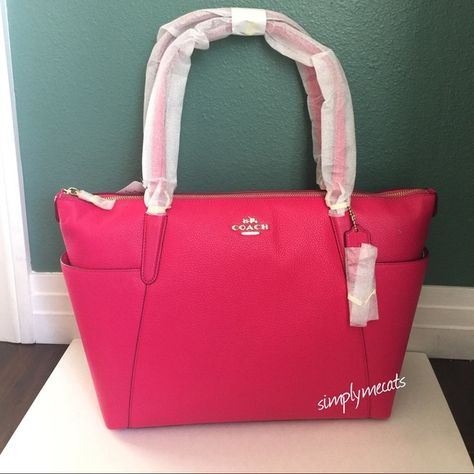 70e801c9184f NWT COACH AVA II TOTE - ruby pink ❤️100% authentic