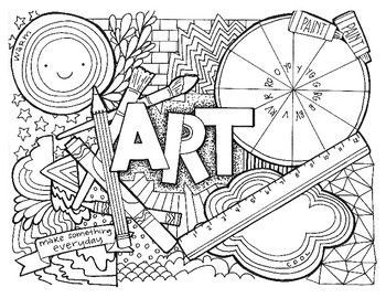 Art Class Coloring Page Art Room Posters Art Worksheets Art