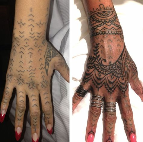 rihanna unhappy with new maori ink covers it up with - 474×473