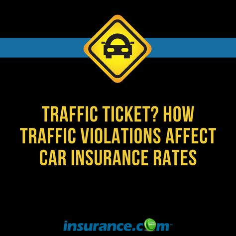 How traffic violations affect car insurance rates?