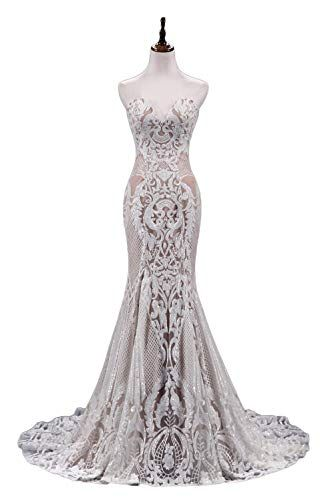 Ruolai Strapless Sweetheart Neck Special Sequined Mermaid Evening Dress Wedding Gowns At Amazon Women S Clothing Sto Dresses Evening Gown Dresses Gowns Dresses