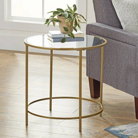 Better Homes Gardens Nola Side Table Multiple Finish Walmart Com With Images Gold Side Table Glass Side Tables Side Table
