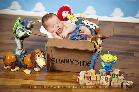 pequeno fã de Toy Story