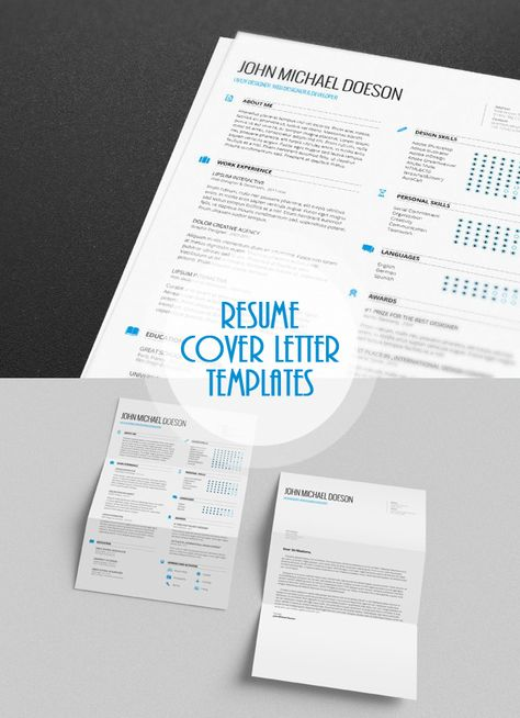 4-in-1 Executive Resume \ Cover Letter Templates Creative PSD - creative cover letters