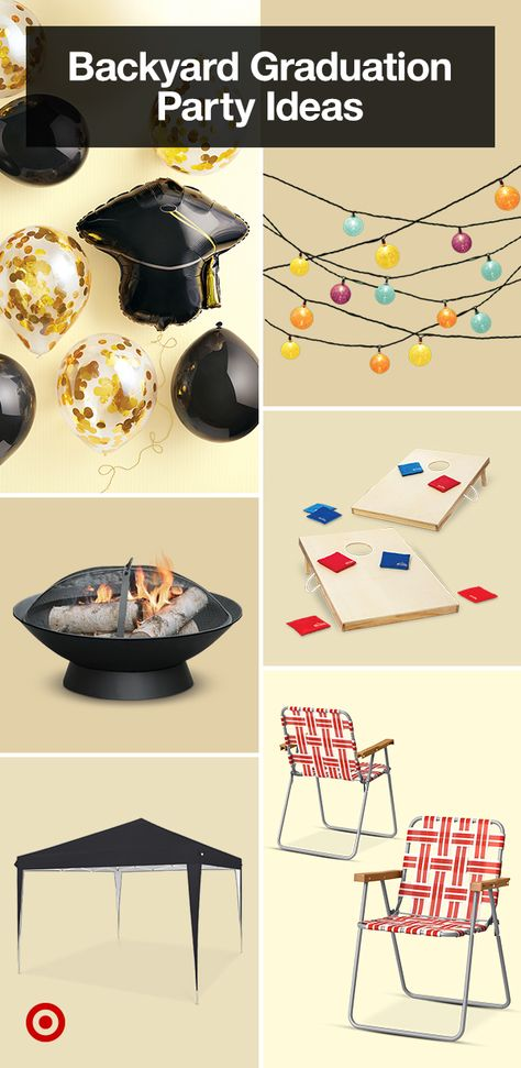 Celebrate your grad with a backyard graduation party. Find decorations, outdoor games, party favors  gift ideas for every high school grad.