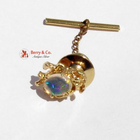 SaLe! sALe! Magnificent Water Opal Stick Pin 14K Gold