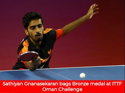 Sathiyan Gnanasekaran Bags Bronze Medal At Ittf Oman Challenge With Images Challenges Table Tennis Medals