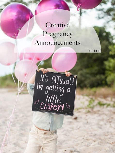 If you can manage to contain your pregnancy news long enough to orchestrate something creative, there are tons of adorable options for the big reveal to your family and friends.
