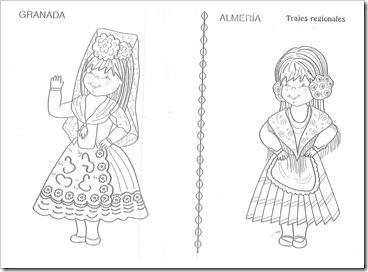 Trajes Regionales De Andalucia Para Colorear Paperblog Traje Regional Andalucia Dia De Andalucia