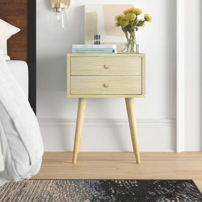 Foundstone Modern 2 Drawer Nightstand In 2020 2 Drawer
