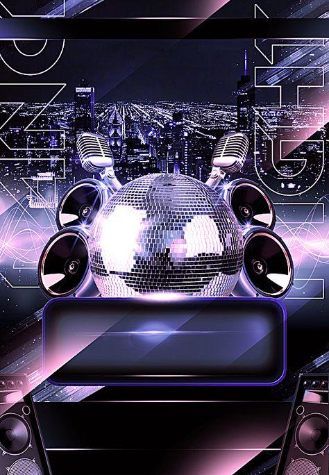 European And American Nightclub Dj Speaker Ktv Bar Creative Background Fondos Para Flyers Fondos De Pantalla De Invierno Y Fondos Para Logo