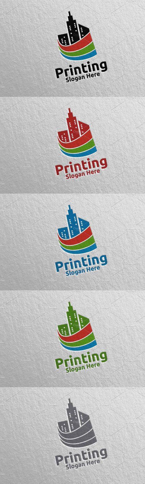 City Printing Company Logo Design 49