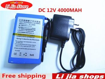 High Quality Super D C 12v Rechargeable Protable Lithium Ion Battery Dc 12v 4000mah With Charger Price 16 67 Usd Lithium Ion Batteries Repair Credit Repair