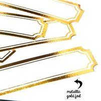 Gold Rimmed Labels #prettylittlestudio #vintagelabels #labels