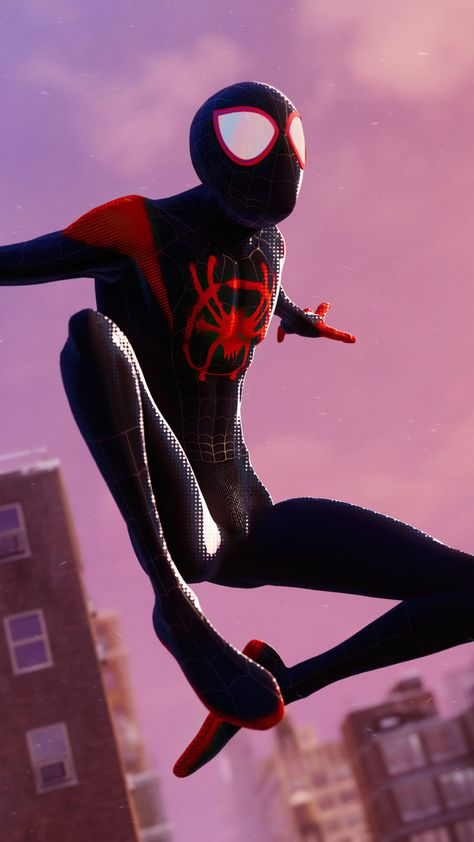 Spider-man Miles Morales Into The Spider Verse Suit 4K Ultra HD Mobile Wallpaper