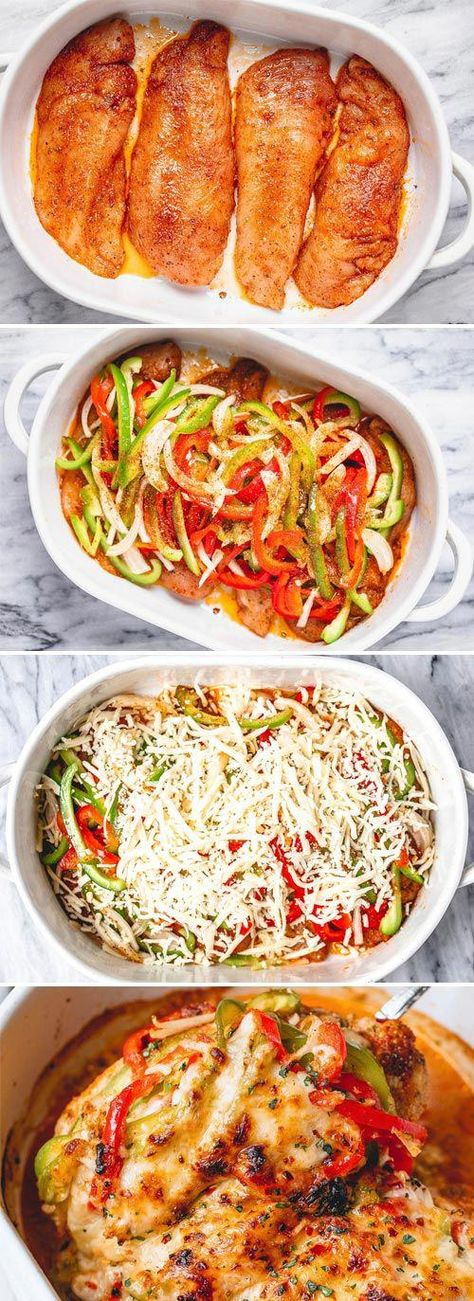 Fajita Chicken Casserole - #chicken #casserole #recipe #eatwell101 - Packed with flavor and so quick to throw together! This chicken fajita casserole is delicious as it is nutritious. - #recipe by #eatwell101 #FastLowCarbMeals