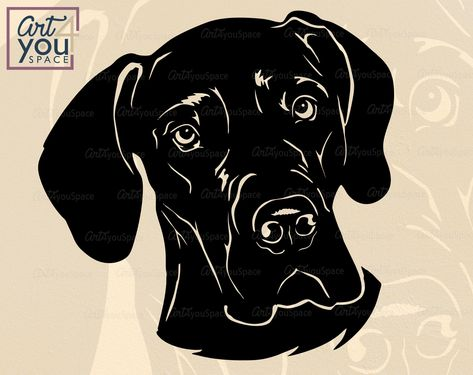 Great Dane Dxf Files For Cnc Dog Face Great Dane Mom Etsy In 2021 Great Dane Dog Face Dog Drawing