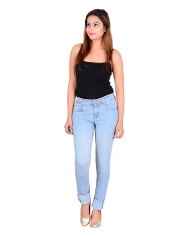 Sky Blue Color Denim Jeans - sku6004 #fashion #look #looking