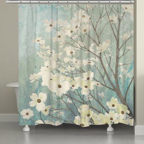 Gordonsville Dogwood Blooms Single Shower Curtain Floral Shower