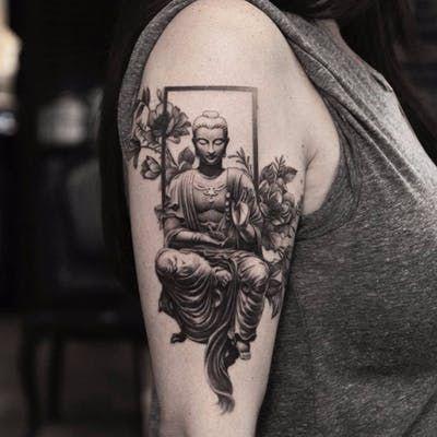 By Oscar Akermo Quarter Sleeve Tattoos Buddha Tattoos Buddha Tattoo