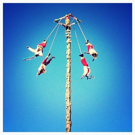 Los #voladores - #folclormexicano - #palosturistas