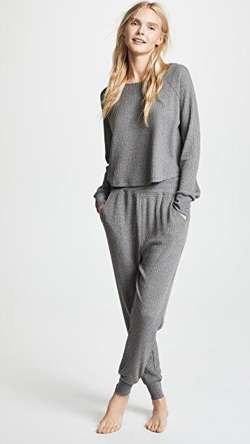 17++ Waffle knit pajama pants trends