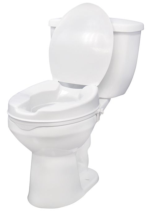 Sensational This Raised Toilet Seat With Lid By Drive Medical Is Dailytribune Chair Design For Home Dailytribuneorg