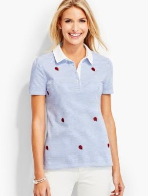 5022a3633 Talbots: The Pique Polo Embroidered Ladybug Stripes | Products | Mens tops,  Polo, Polo shirt