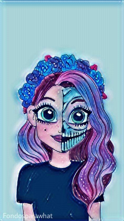 Pin De Mari Gaby En Fondos Fondo De Pantalla Halloween Dibujos Kawaii Unicornios Wallpaper