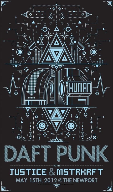 Daft Punk NewPort 2012 Poster by Taylor Hicks