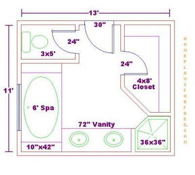 Master Bathroom Closet Floor Plans bathroom and closet floor plans |  bathroom design 11x13 size